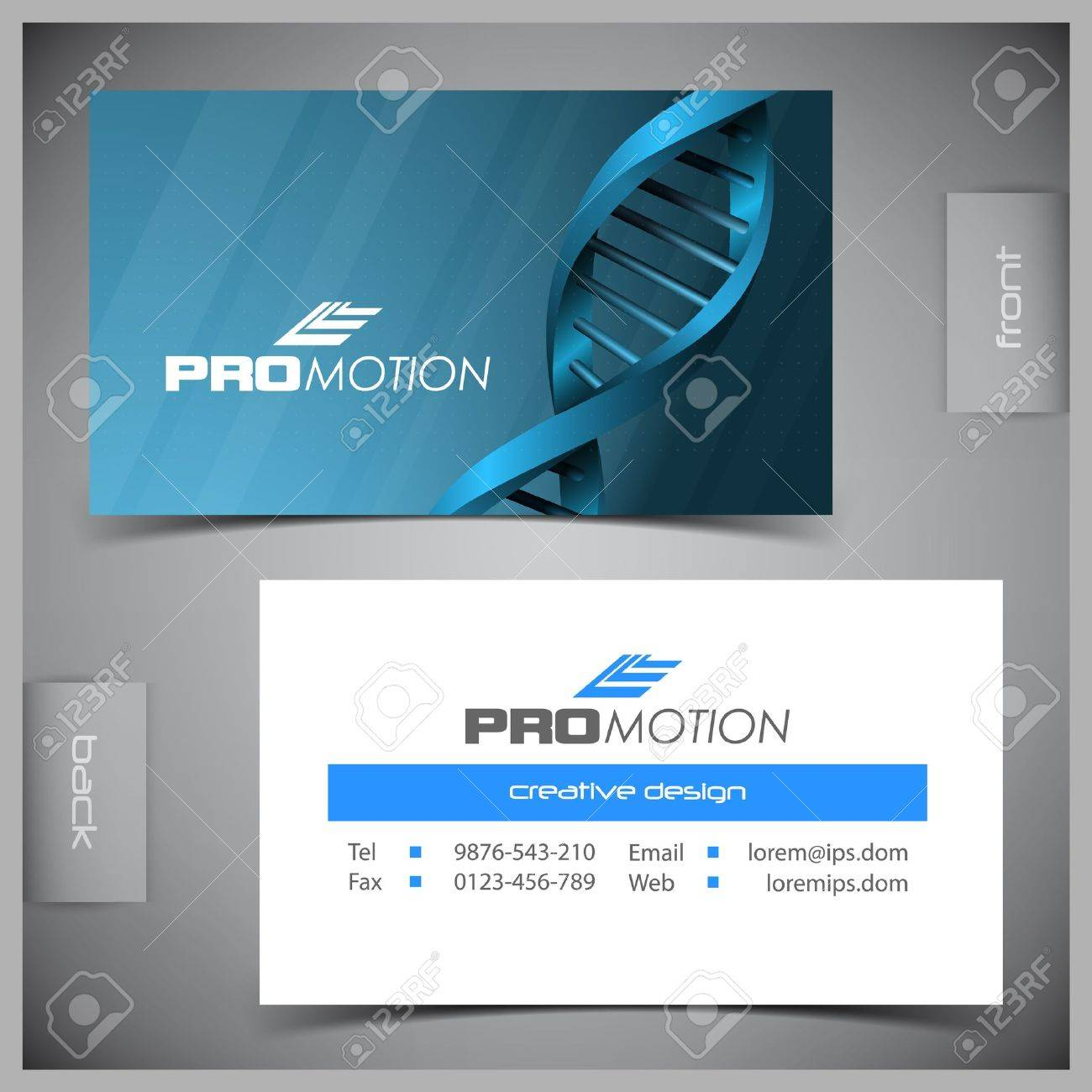 Abstract Creative Business Cards set Template Royalty Free – Medical Business Card Templates