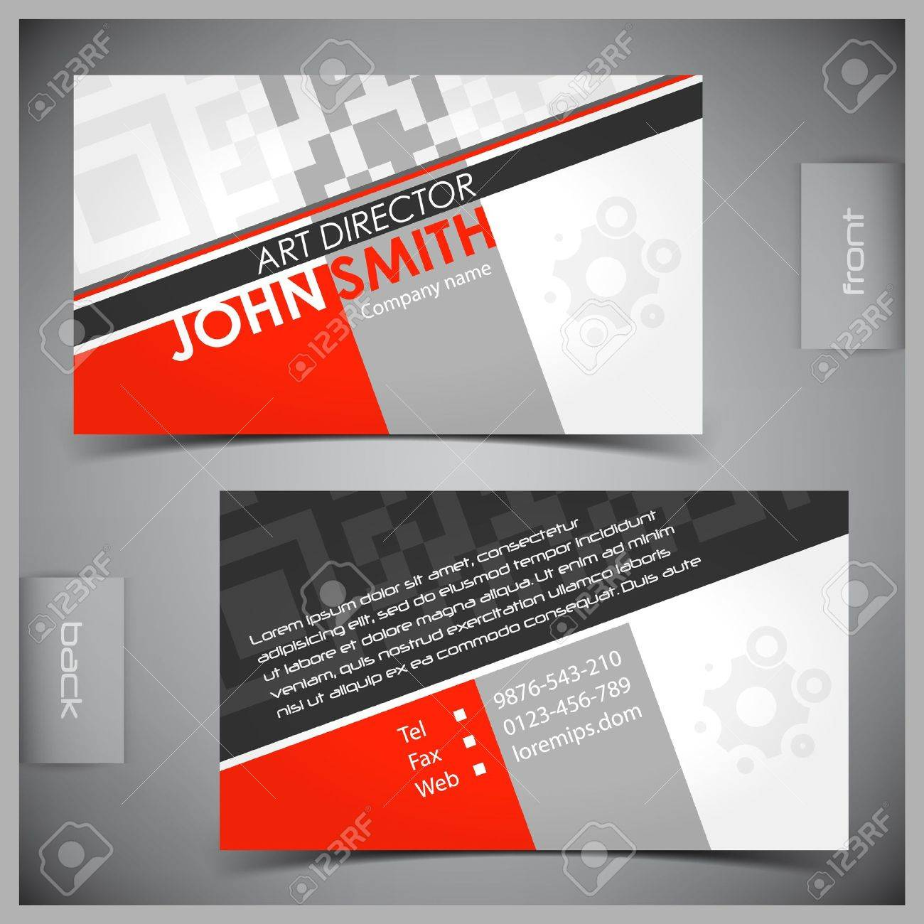 Vector Abstract Creative Business Cards Set Template Royalty Free ...