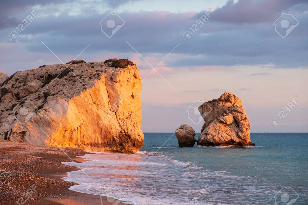 It Was Beautiful Afternoon For >> Beautiful Afternoon View Of The Beach Around Petra Tou Romiou