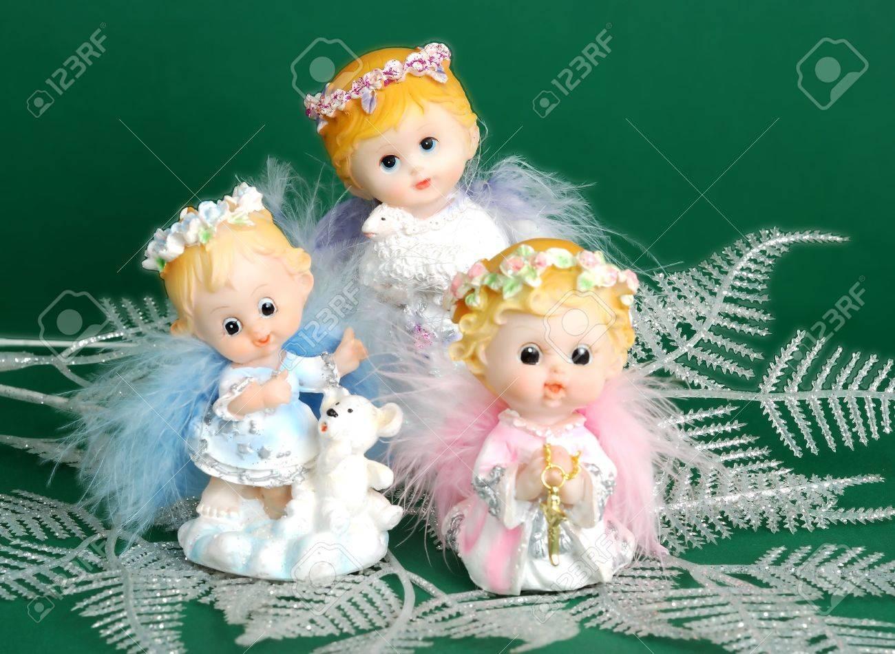 natale angeli briciola-decorazioni su stoffa foto royalty free ... - Decorazioni Su Stoffa