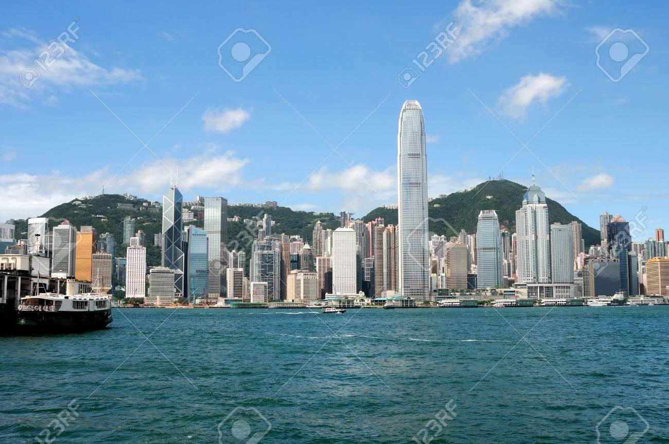 Hnong Kong island, photo taken from Victoria Harbor Stock Photo - 6042356