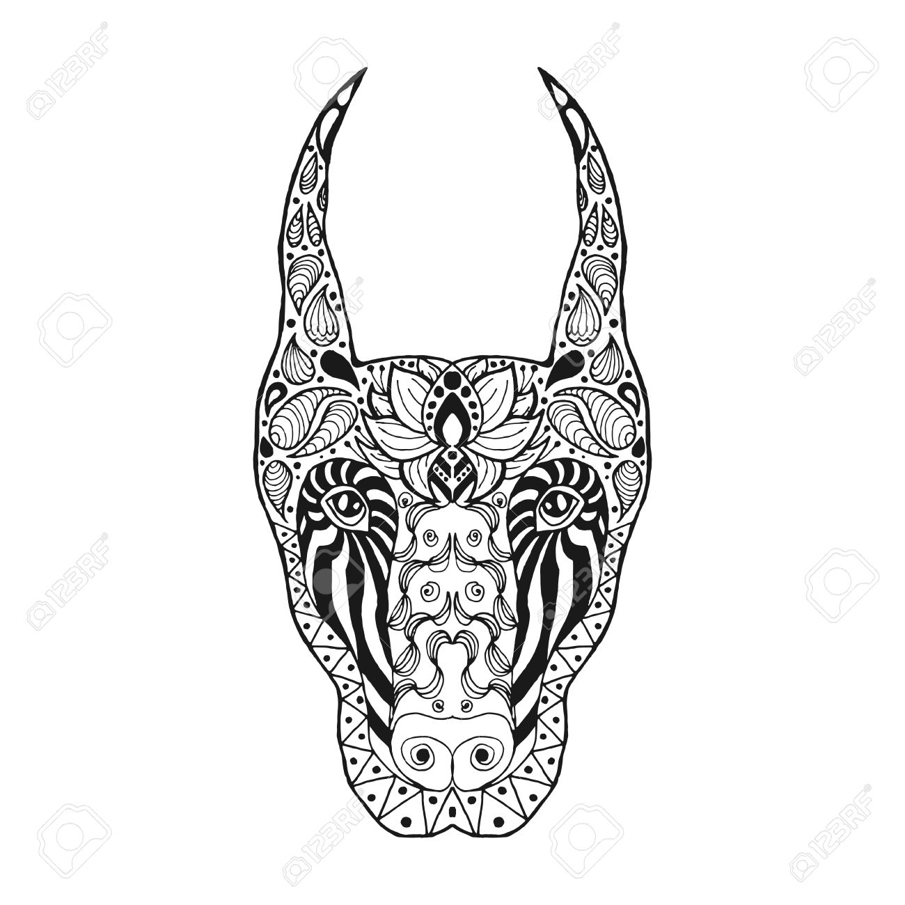 T shirt coloring pages - Sketch For Tattoo Or T Shirt Doberman Coloring Page Animals Hand
