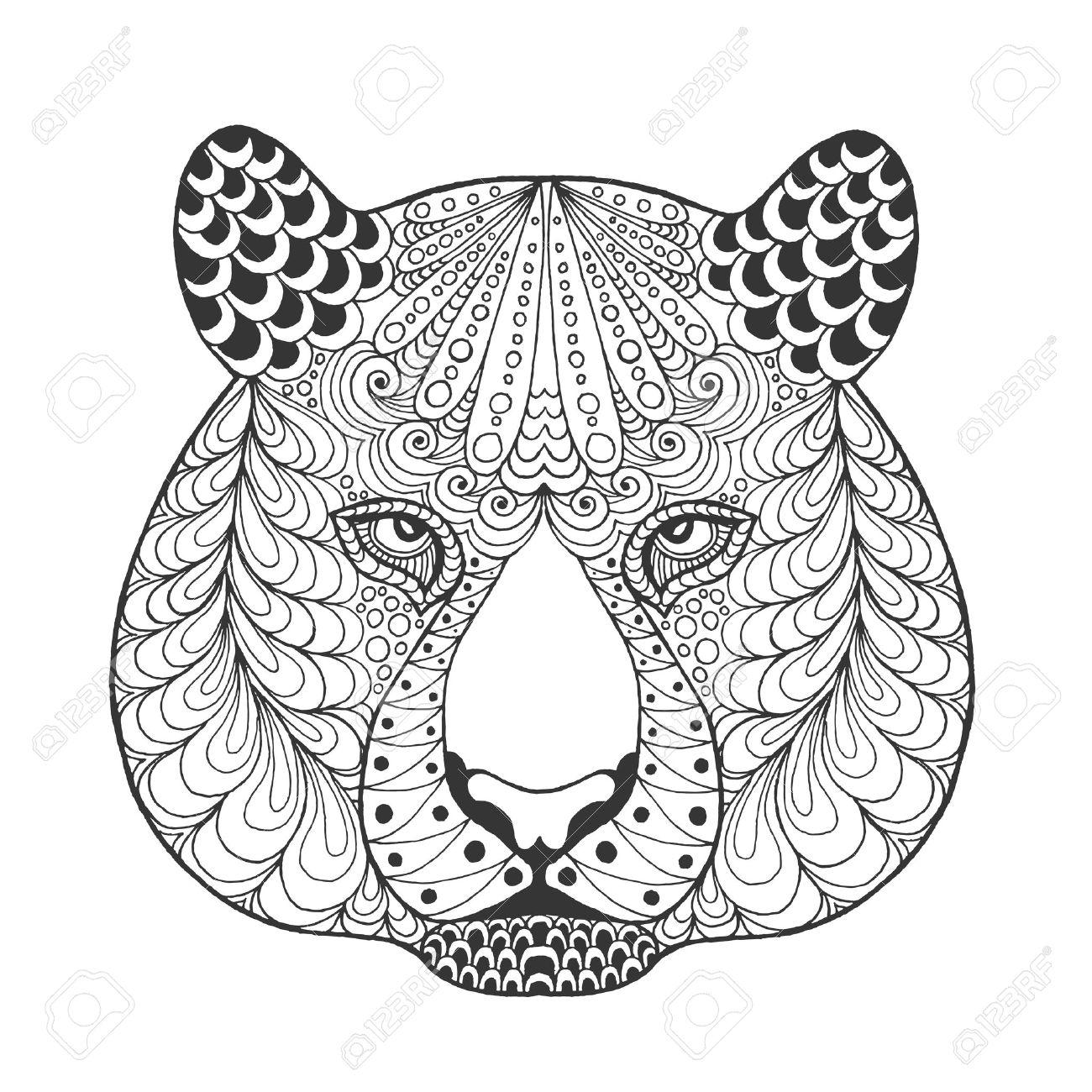 coloriage anti stress tigre