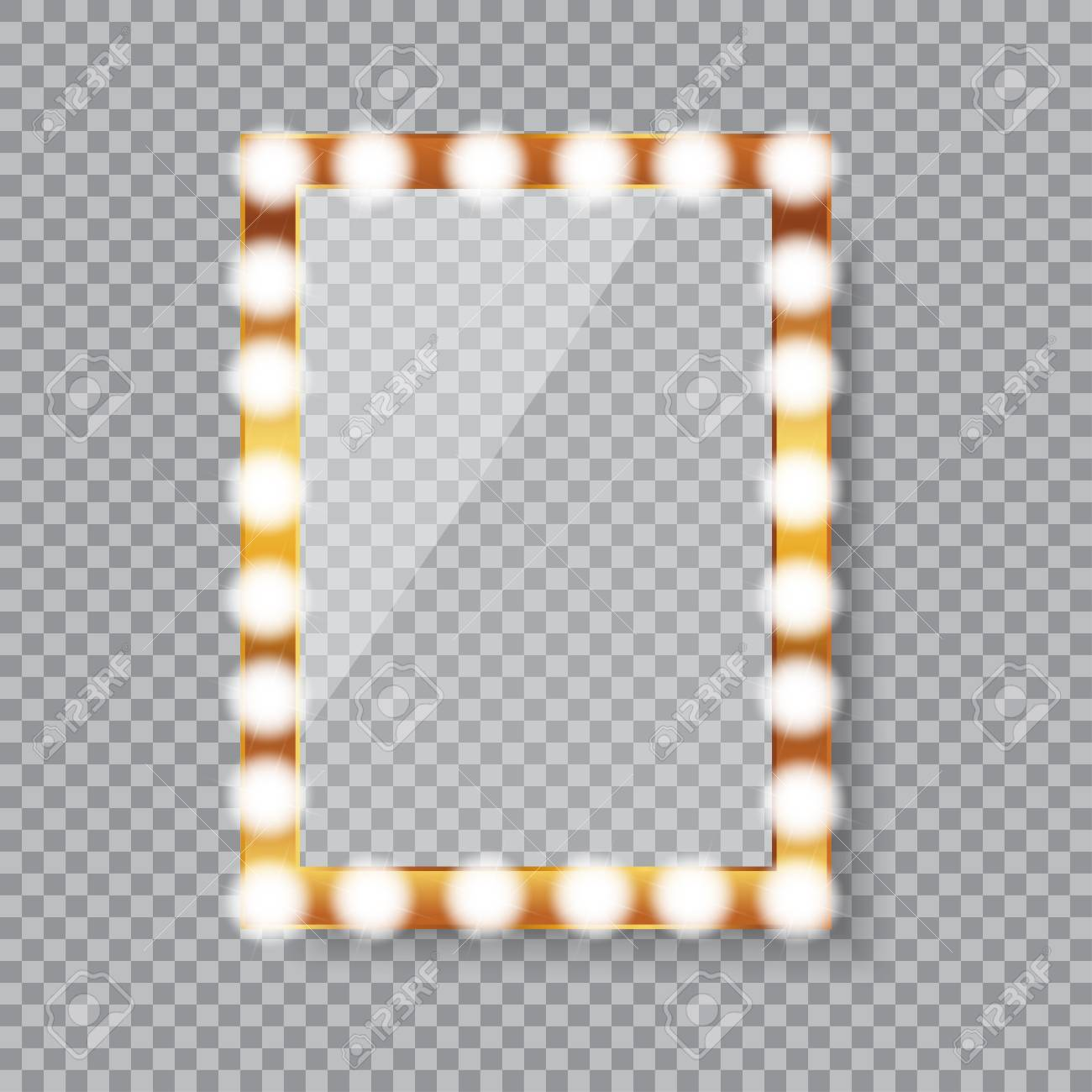 Rectangle Vanity Mirror With Light Bulbs Royalty Free Cliparts Vectors And Stock Illustration Image 122471535