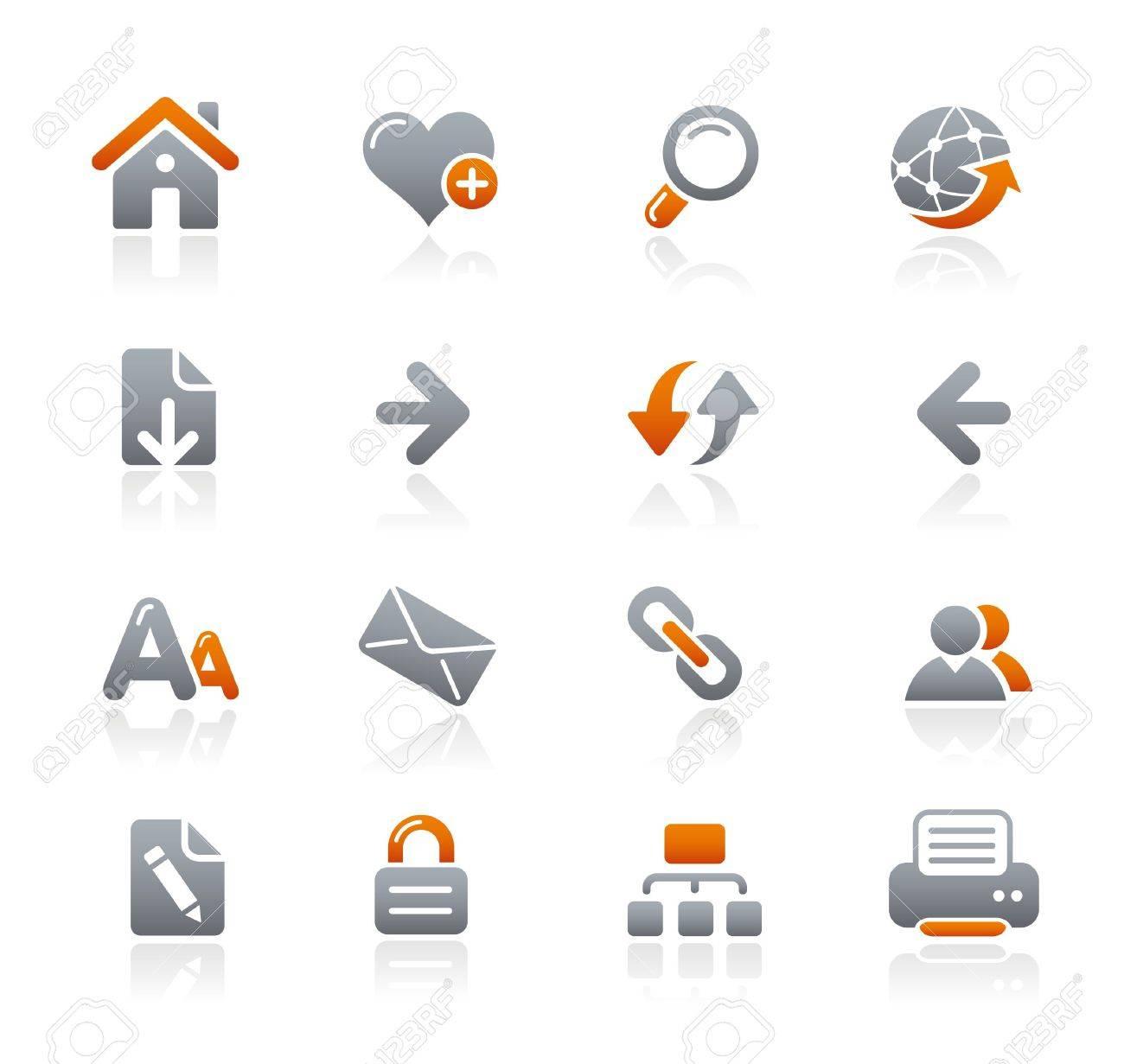 Web Navigation // Graphite Icons Series Stock Vector - 6625003