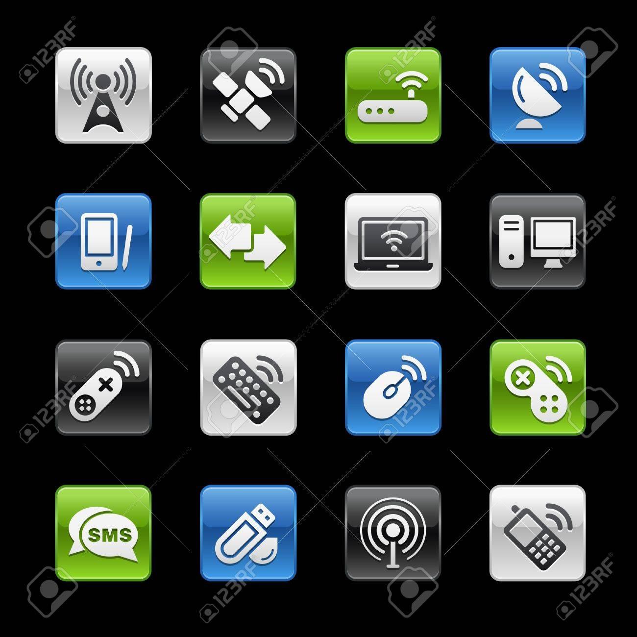 Wireless & Communications // Gelbox Series Stock Vector - 6985193