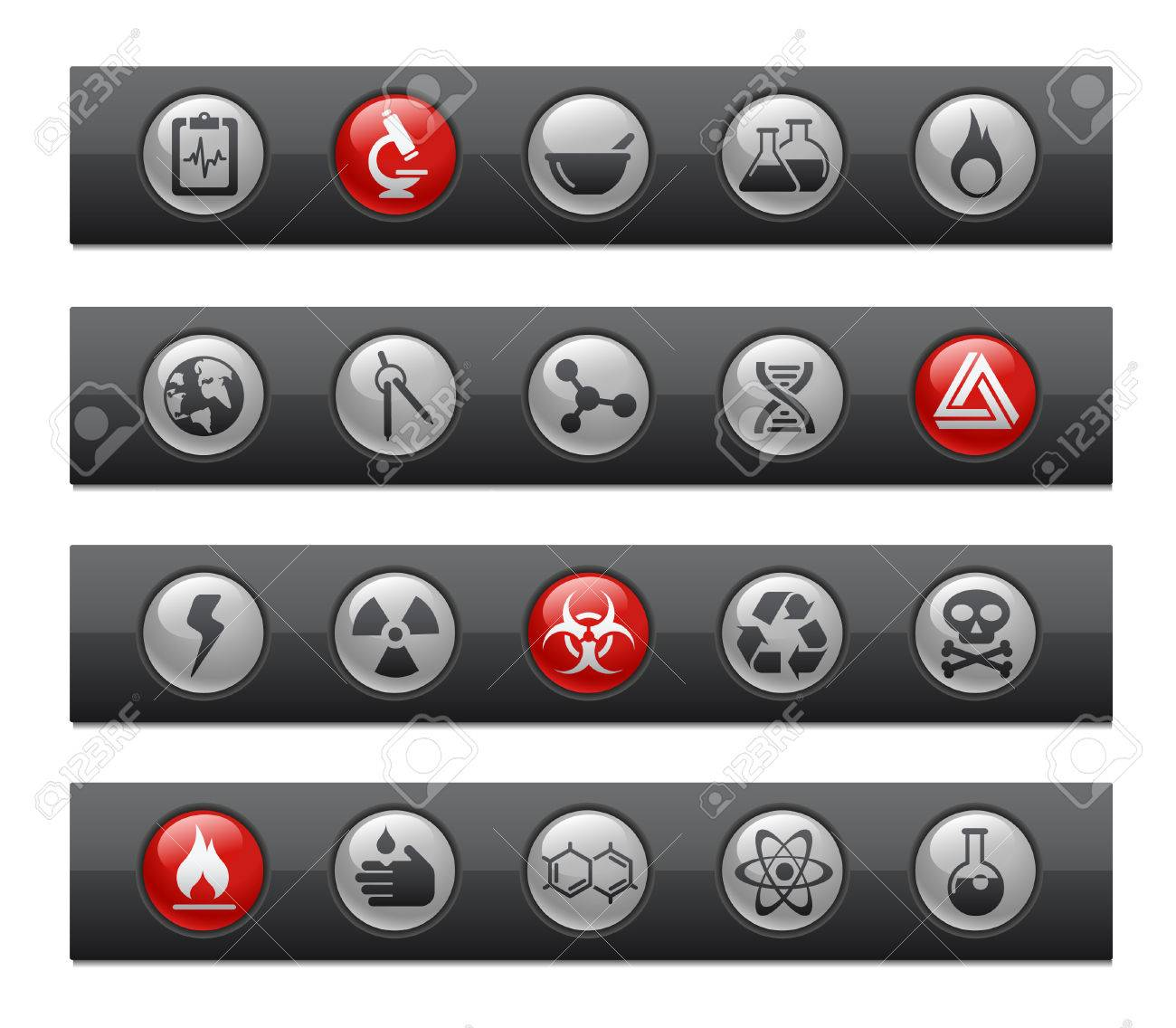 Science // Button Bar Series Stock Vector - 7118053