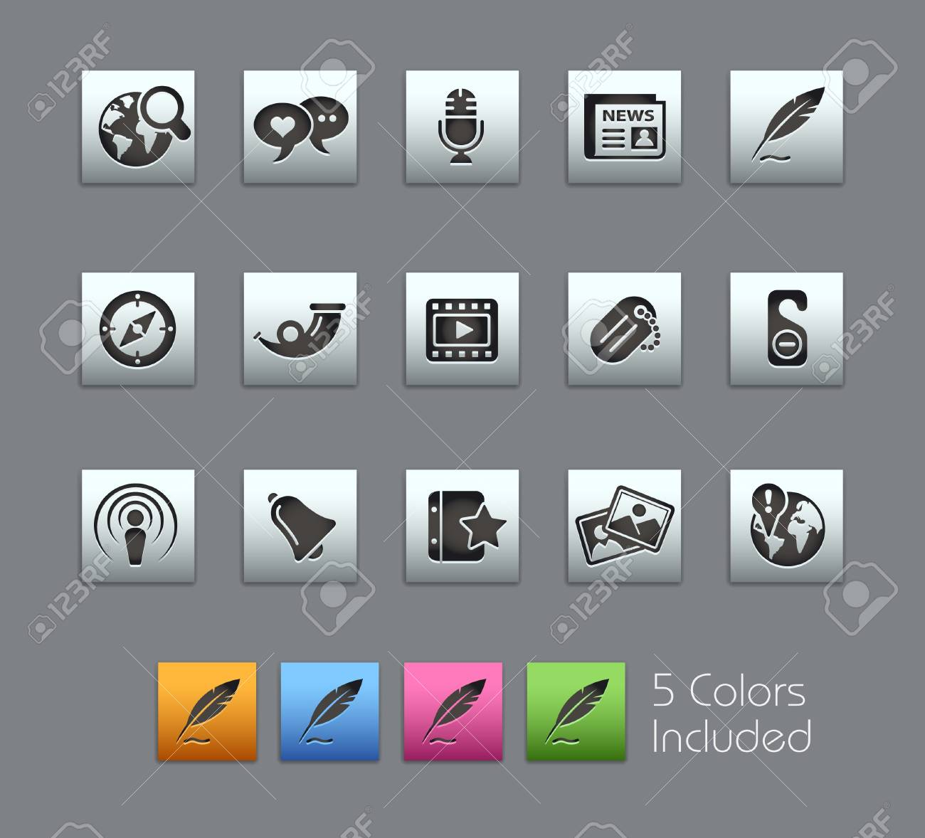 Social Media / It includes 5 colors in different layers Stock Vector - 7309291