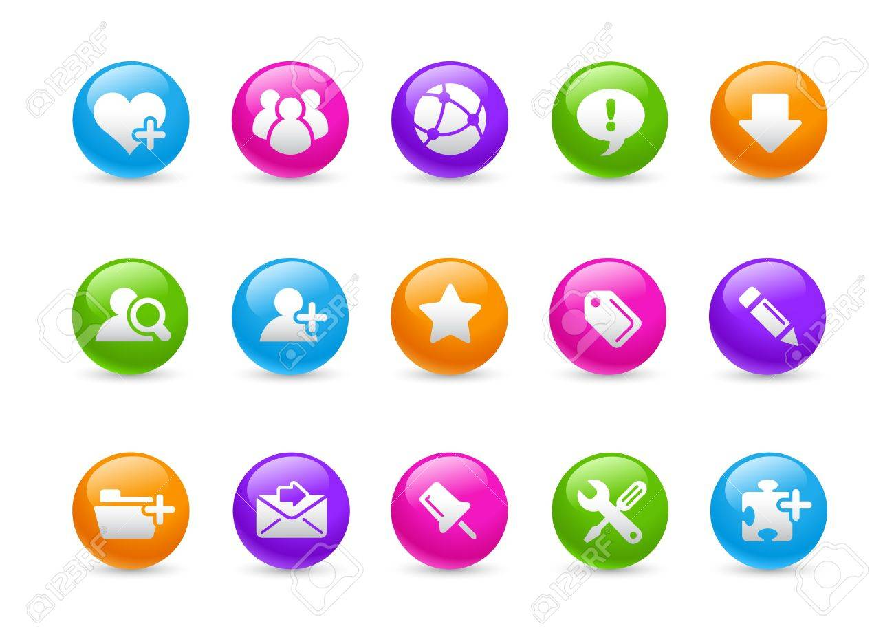 Blog & Internet // Rainbow Series Stock Vector - 7396090