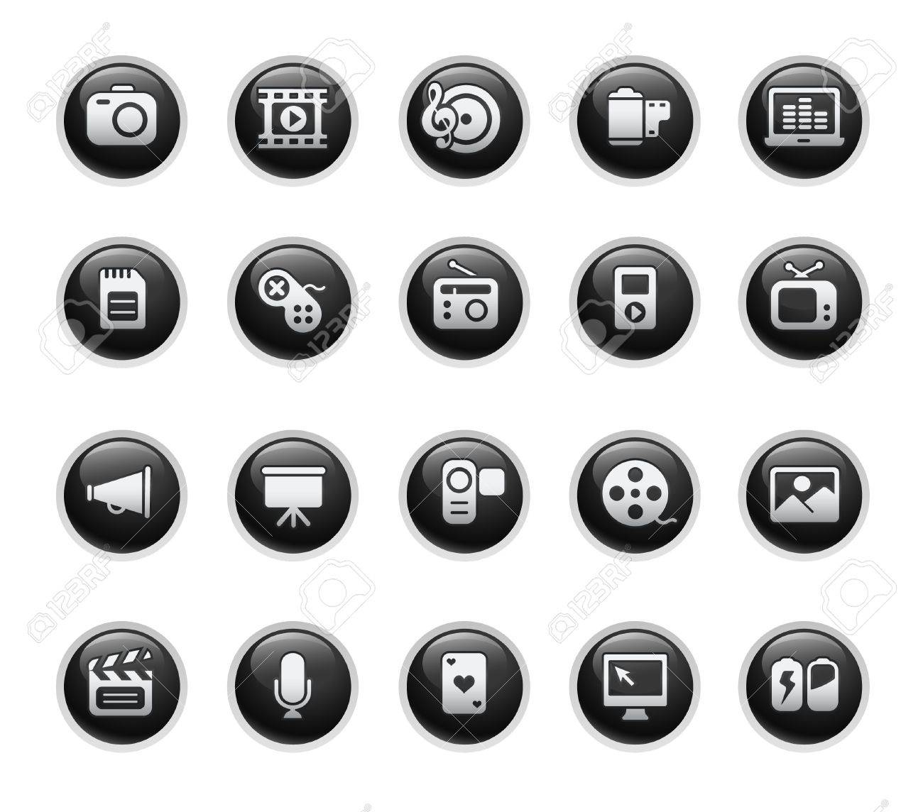 Multimedia // Black Label Series Stock Vector - 9061365