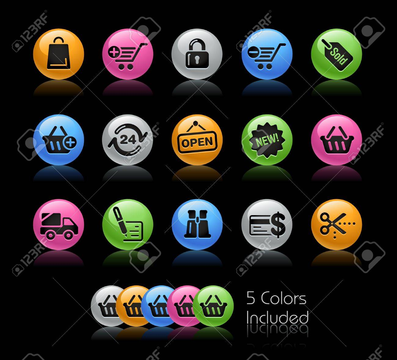 Shopping  / The file includes 5 colors in different layers. Stock Vector - 9341679