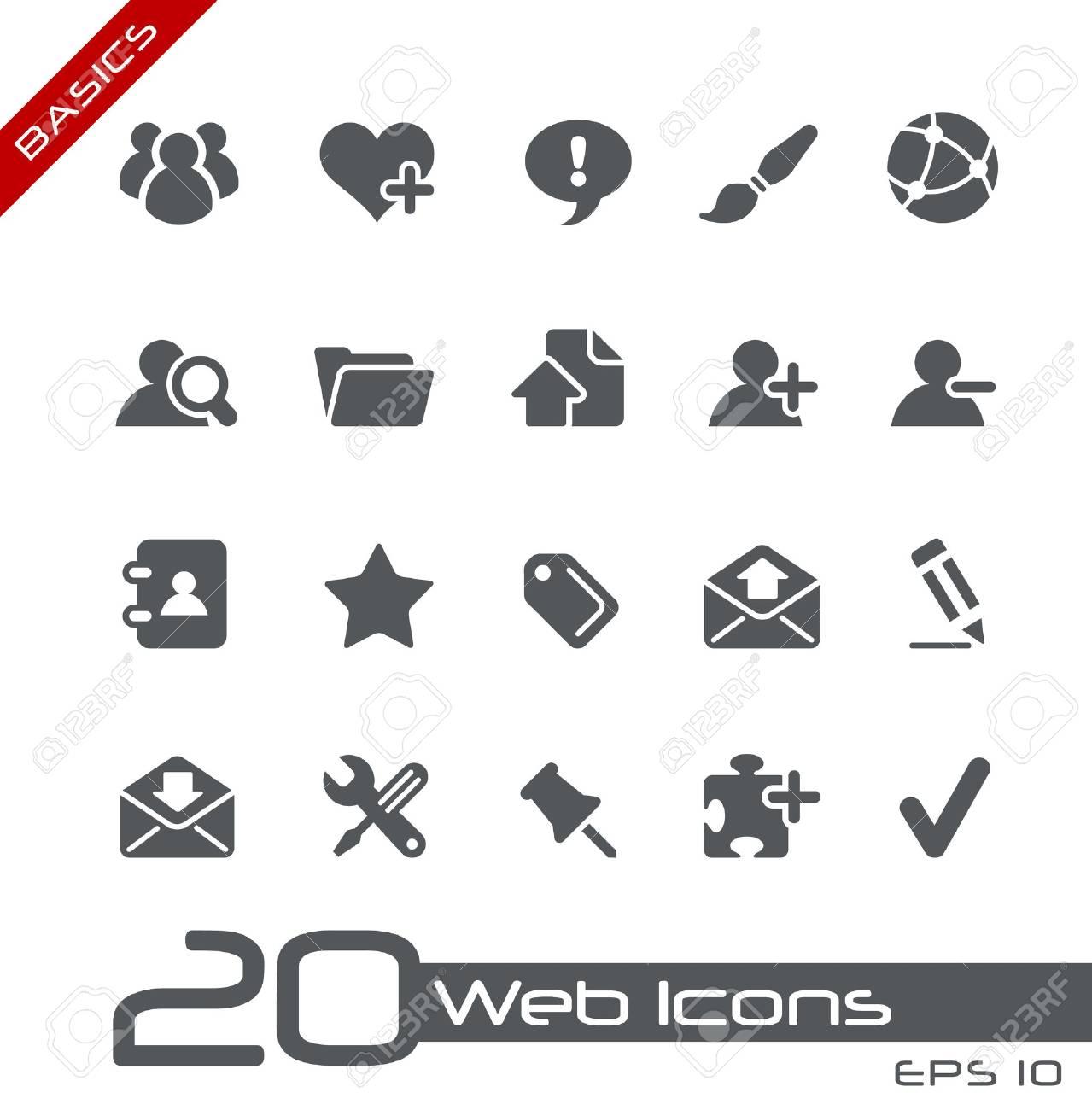 Web Icons - Basics Stock Photo - 13604402