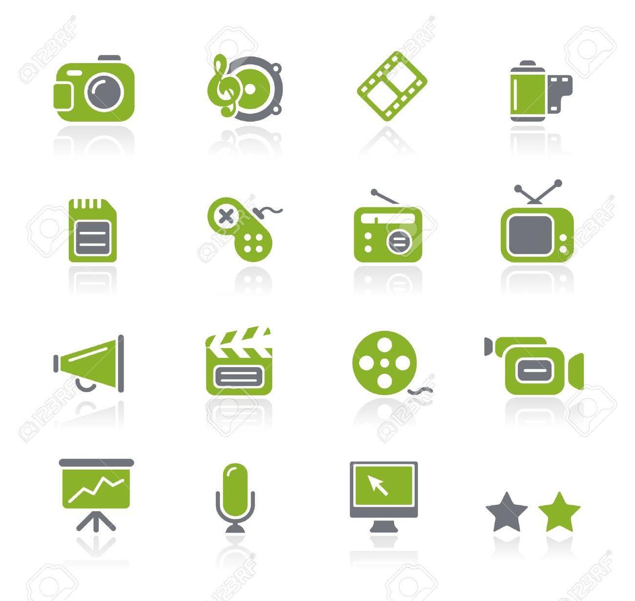 Multimedia Icons -- Natura Series Stock Vector - 15029934
