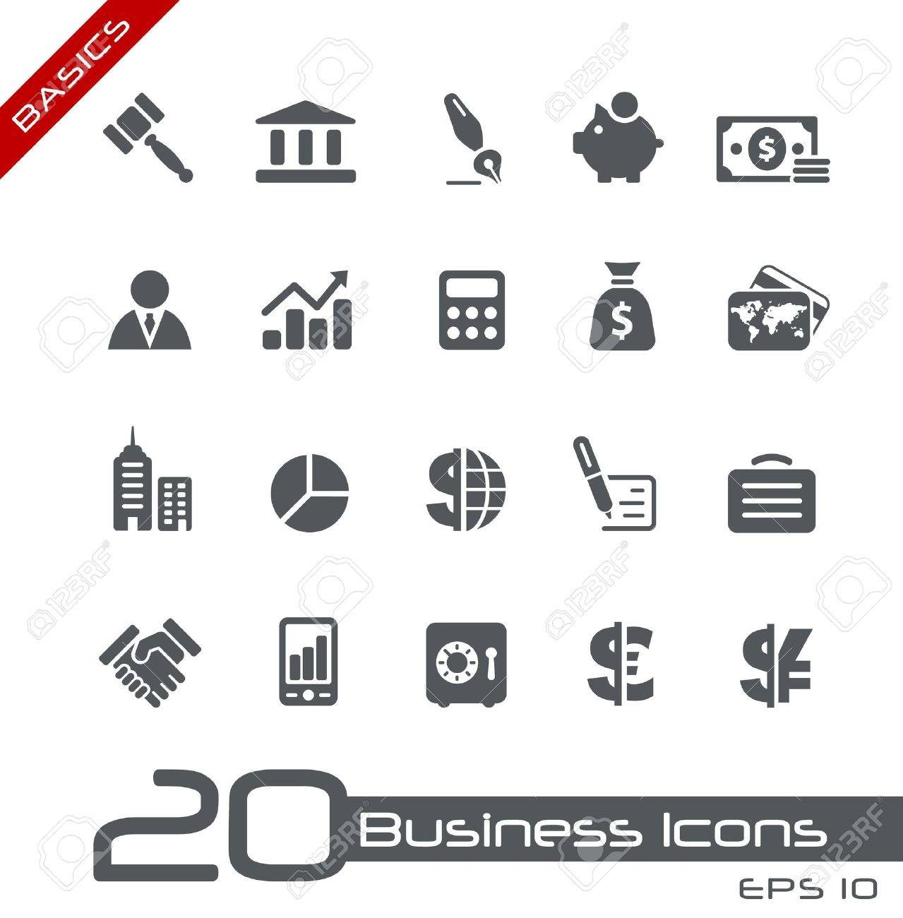 Business and Finance Icons -- Basics Series Stock Vector - 15137803