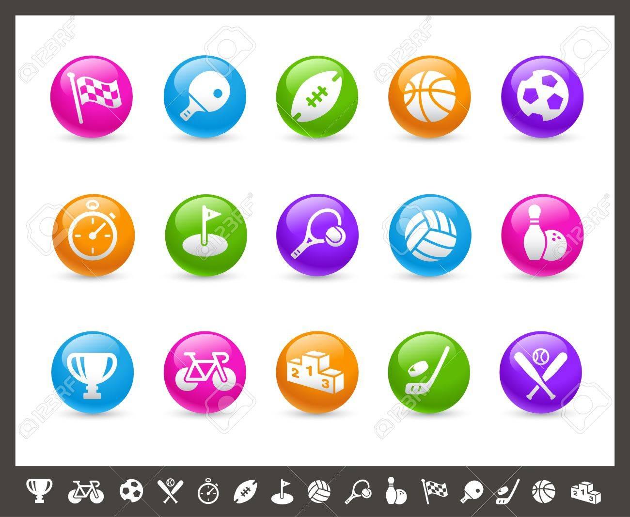 Sports Icons -- Rainbow Series Stock Vector - 17143103
