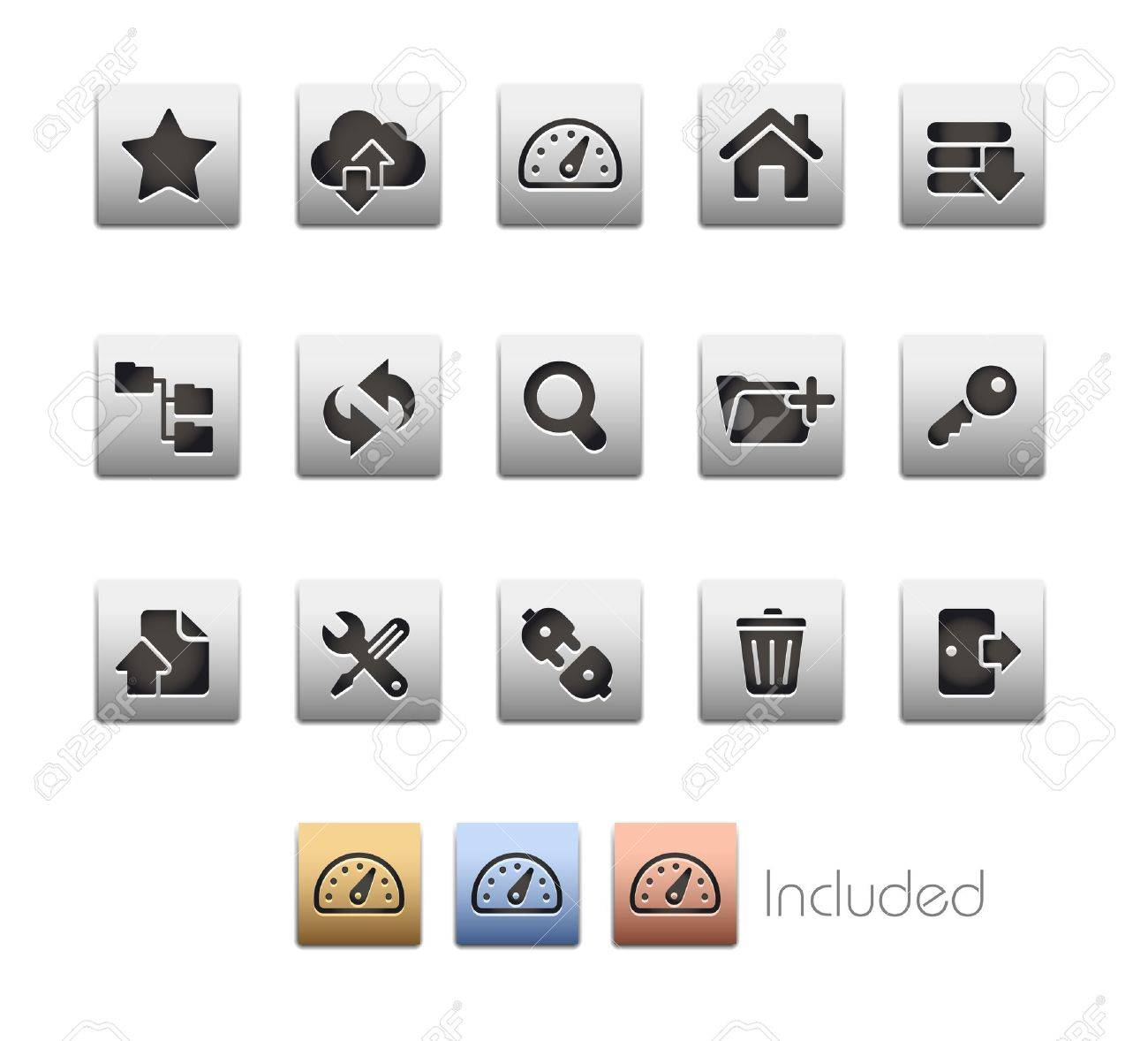 Hosting Icons - The set includes 4 color versions for each icon in different layers Stock Vector - 21686271