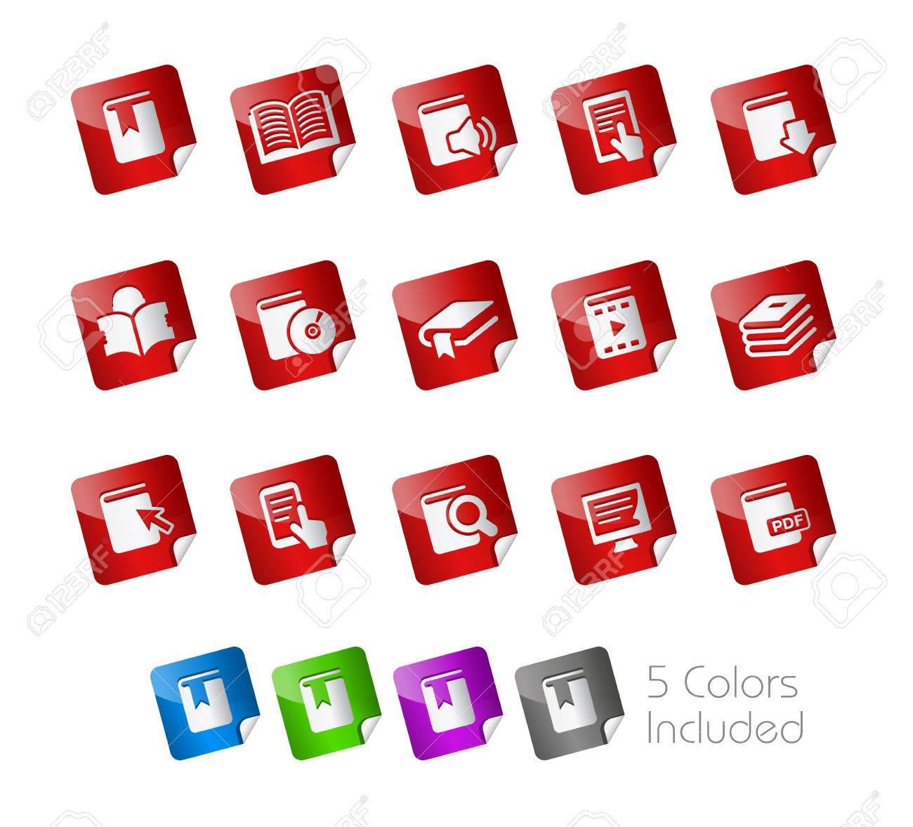 Book Stickers Stock Vector - 22536802