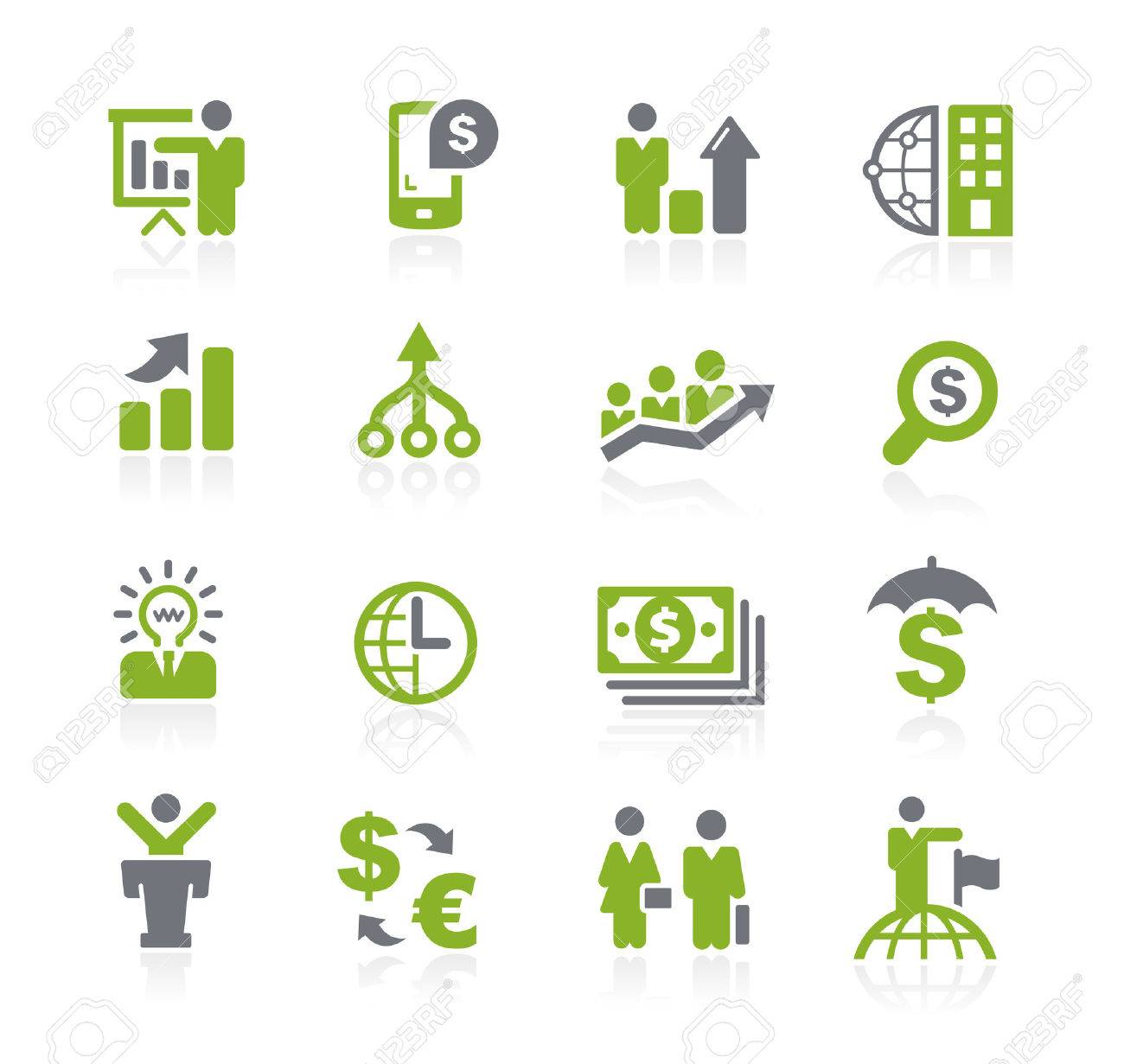 Business and Finance Icons -- Natura Series - 44639128