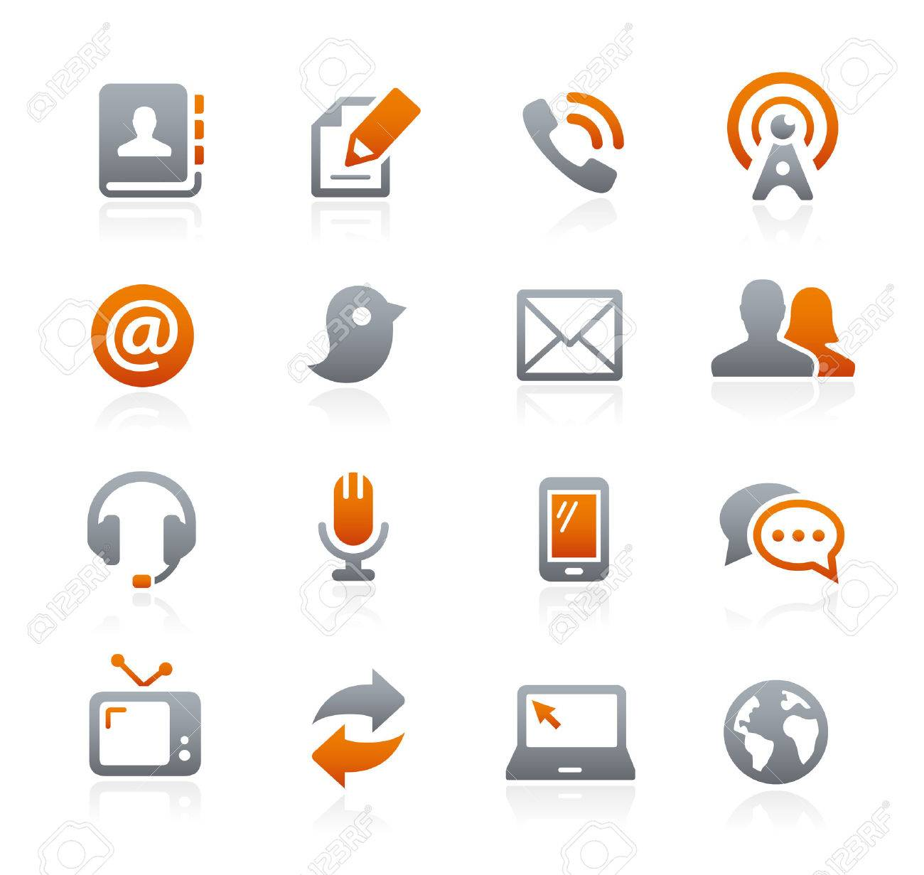 Communications Icons - Graphite Series Stock Vector - 50482650
