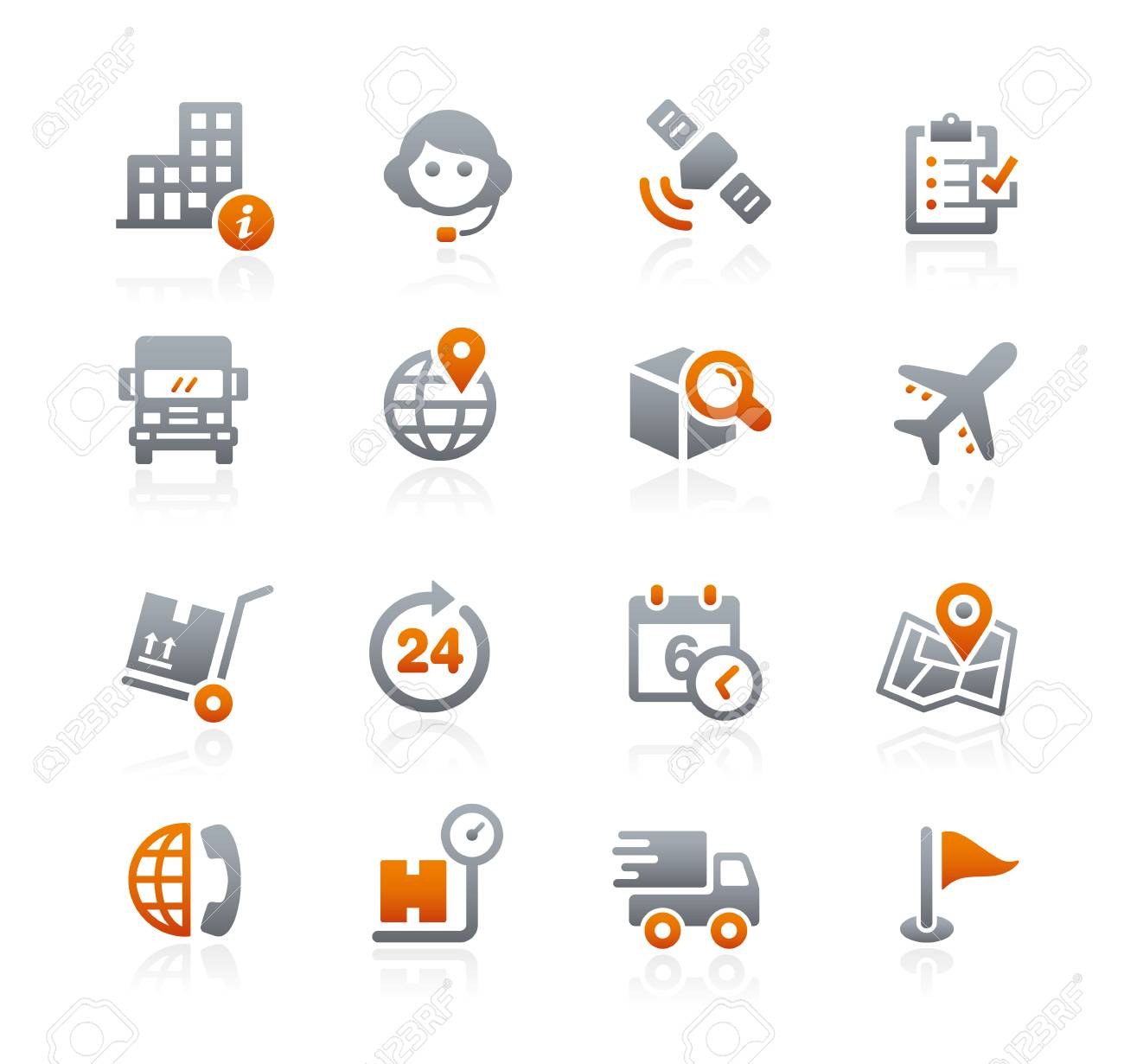 Shipping and Tracking Icons - Graphite Series - 50481735