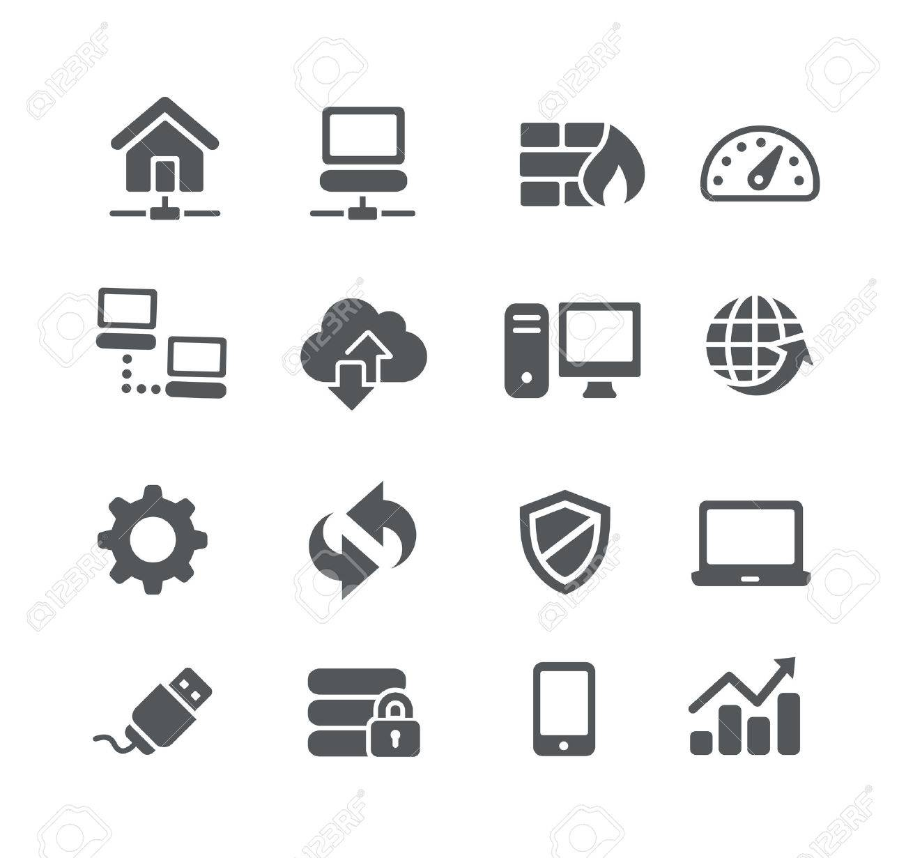 Network Icons -- Utility Series - 52561466