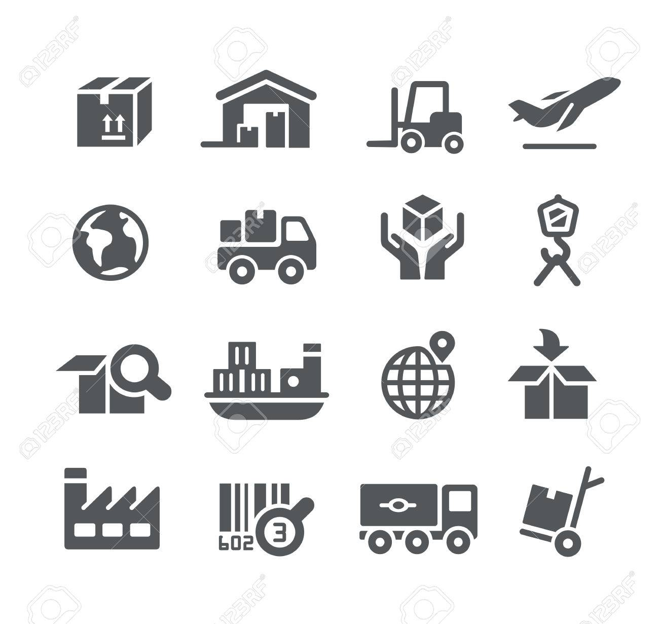 Industry and Logistics icons -- Utility Series - 54023799