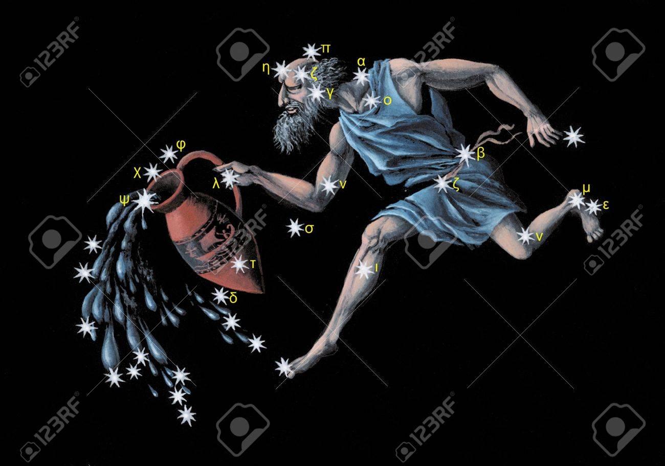 Aquarius zodiac icon Stock Photo - 5499298