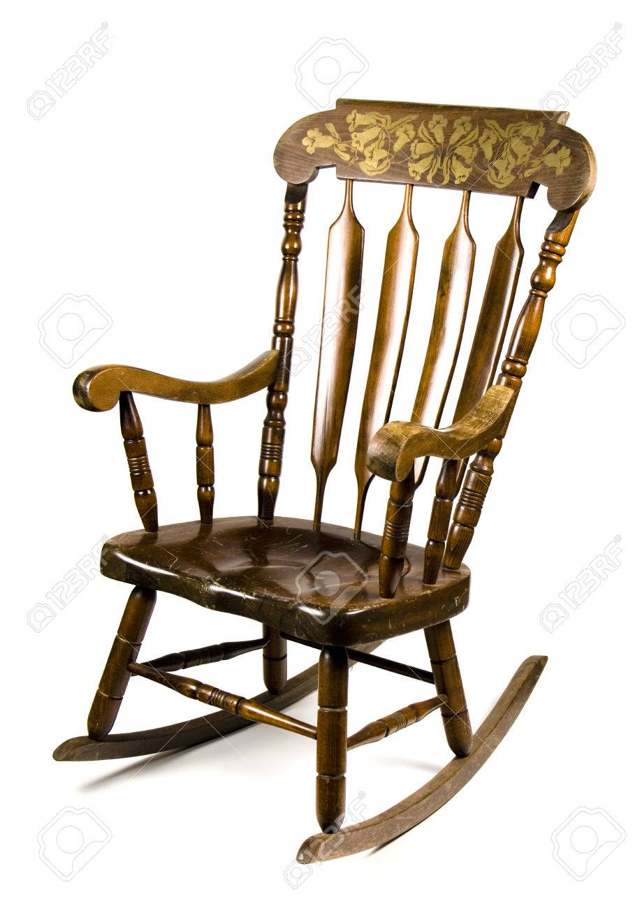 Antique Rocking Chair Stock Photo - 60392713 - Antique Rocking Chair Stock Photo, Picture And Royalty Free Image