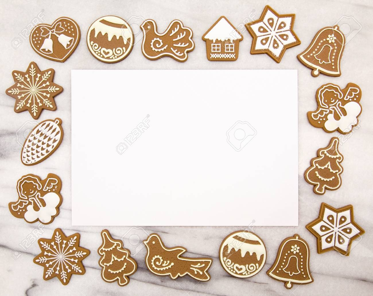 Gingerbread Christmas Cookie Background