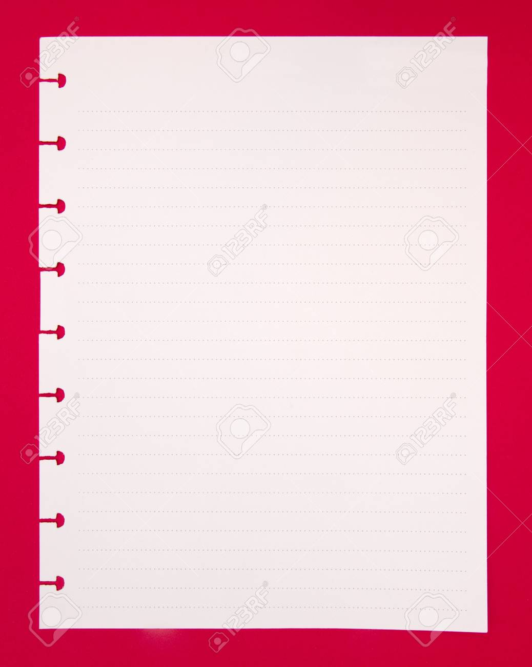 a piece of blank notebook paper stock photo picture and royalty