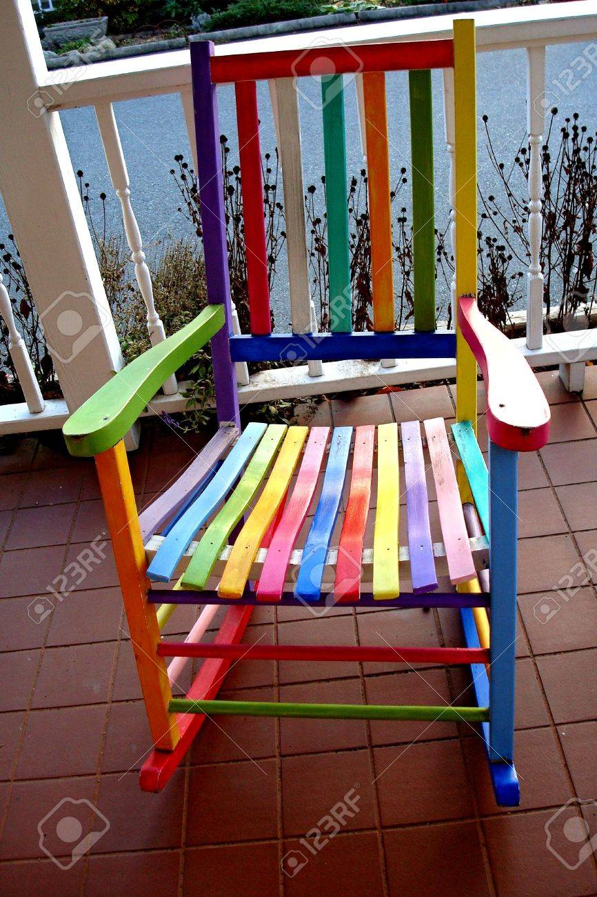 Colored Rocking Chair Stock Photo   2232157