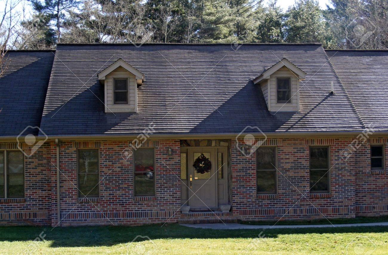 Home With Two Dormer Windows Stock Photo - 2309566