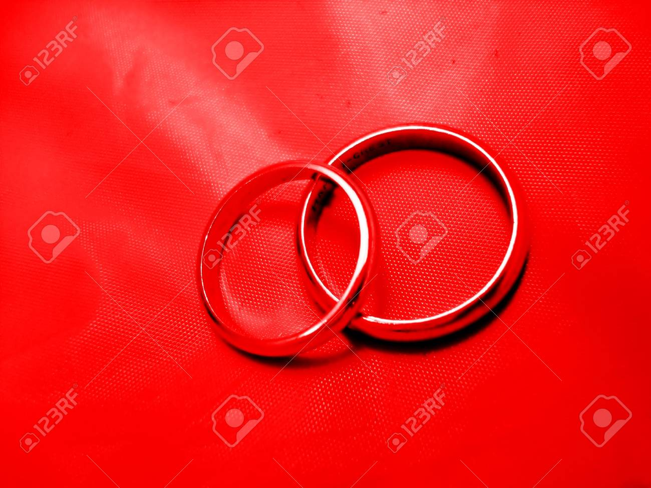 Abstract Red Wedding Rings Stock Photo - 2496004