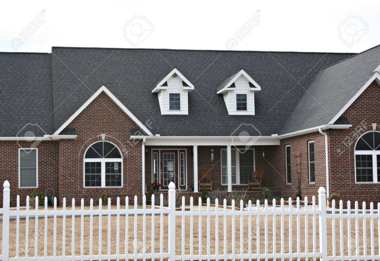 New Modern Red Brick Home Stock Photo - 2605974