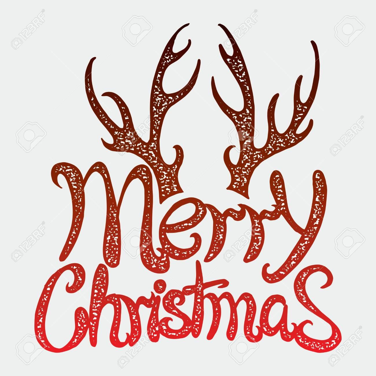 Inscription Vectorielle Joyeux Noel Titre De La Couverture Dessin