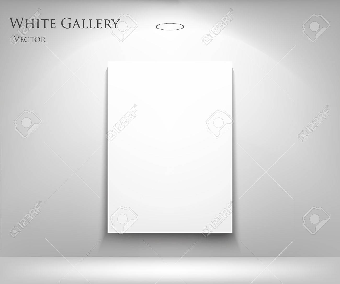 Empty picture frames on wall Interior Gallery Interior With Empty Frames On Wall Stock Vector 14127164 123rfcom Gallery Interior With Empty Frames On Wall Royalty Free Cliparts
