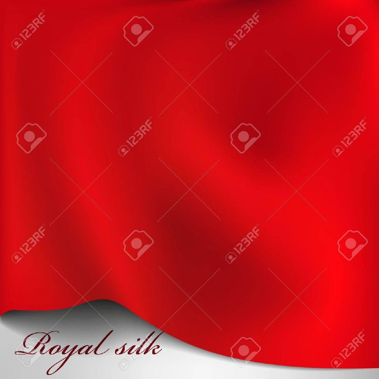 Vector red silk background Stock Vector - 14114046