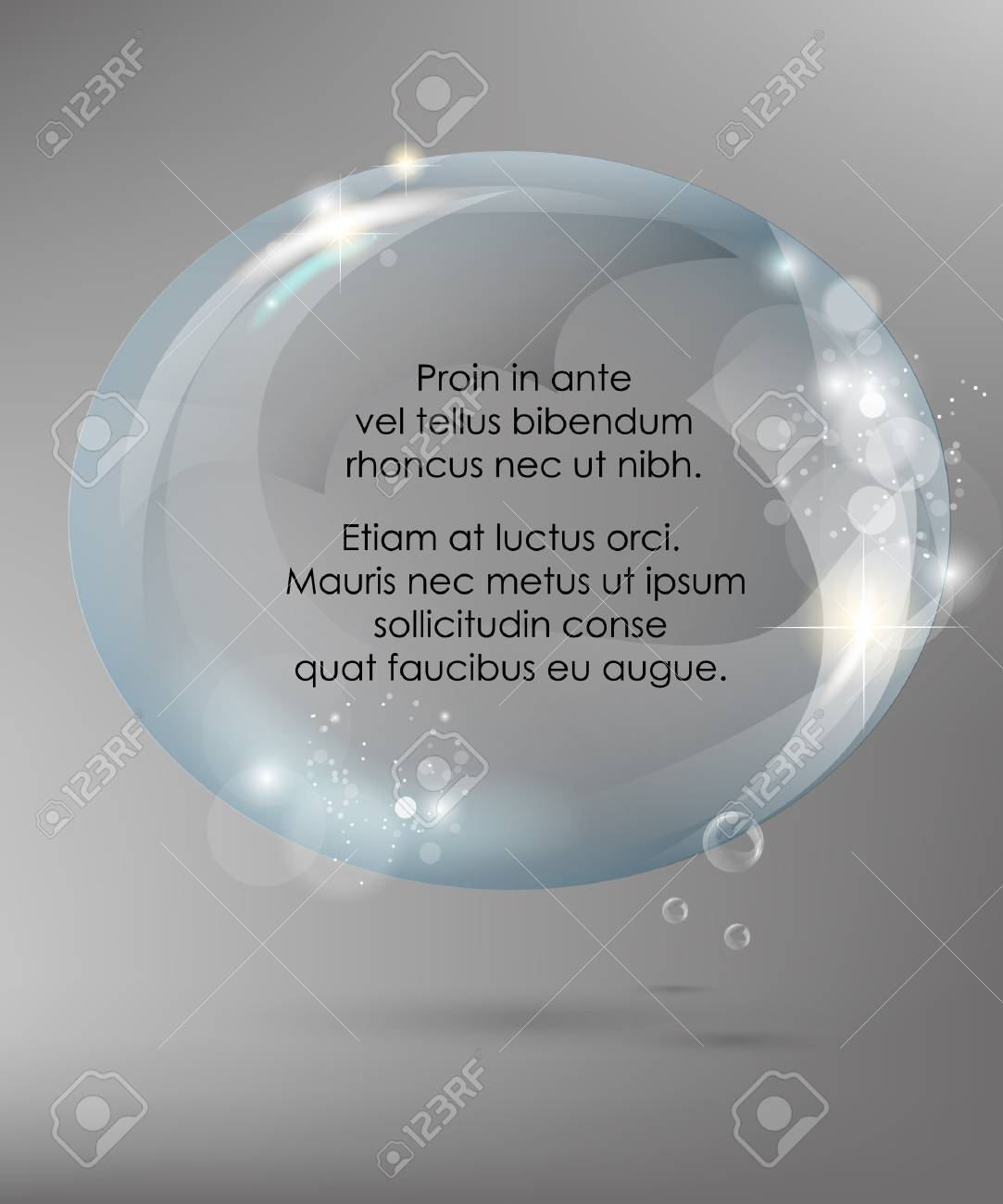 Abstract background with glass ball Stock Vector - 14257545
