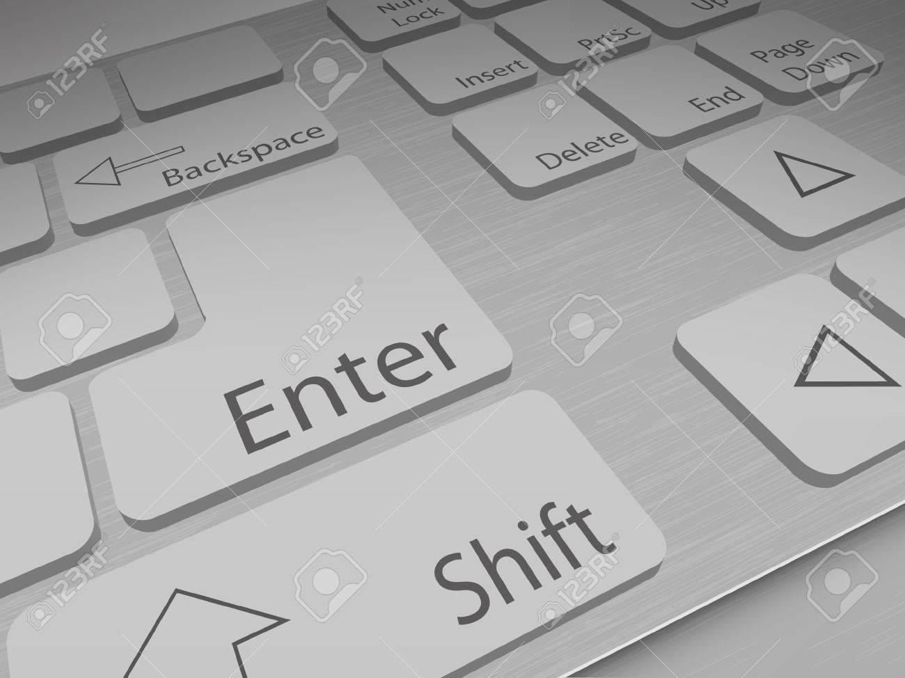 Keyboard start Stock Vector - 14257525