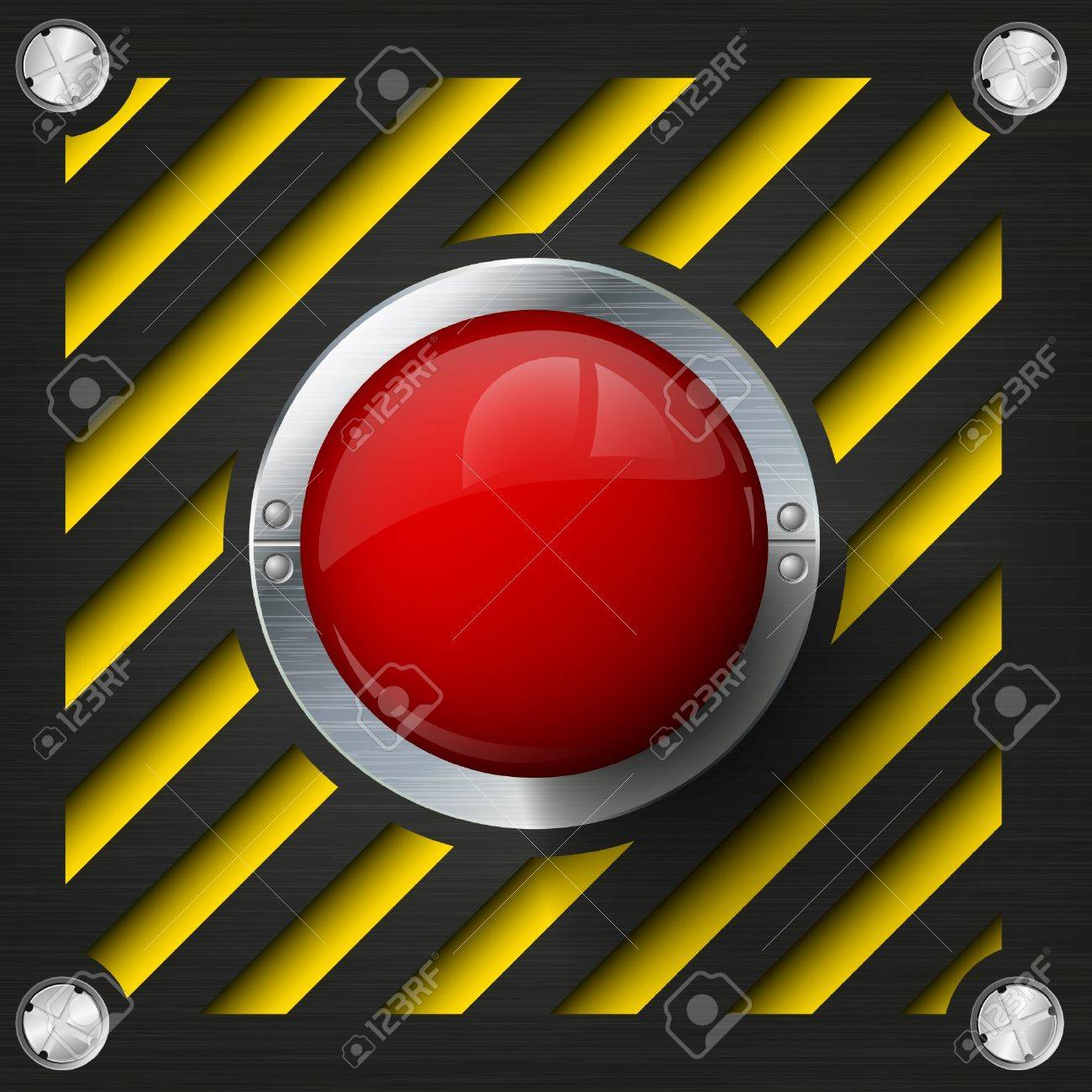 Emergency stop icon clipart emergency off - Red Alarm Shiny Button On A Tech Beckground Stock Vector 14182073