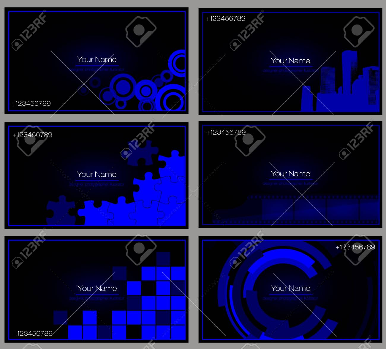 set of buisness card Stock Vector - 15496770
