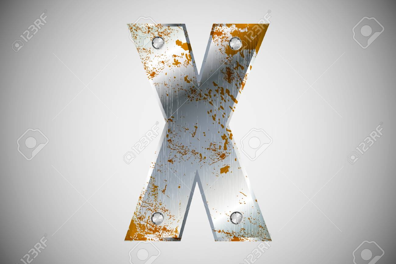 Metal letters of the alphabet X Stock Vector - 16503480