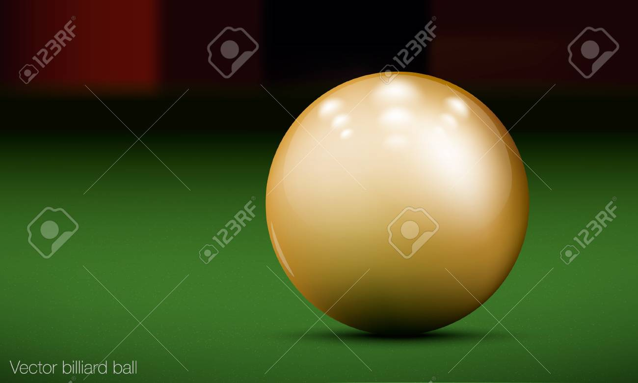 realistic billiard ball on a pool table Stock Vector - 16700167