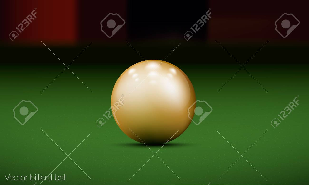 realistic billiard ball on a pool table Stock Vector - 16700160