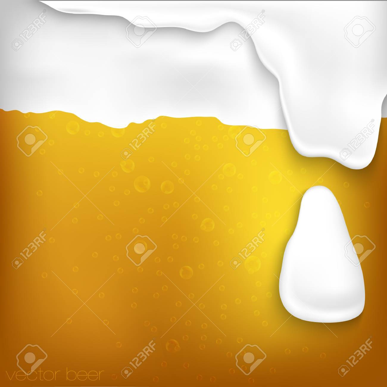 texture of beer with foam and bubbles Stock Vector - 17535597