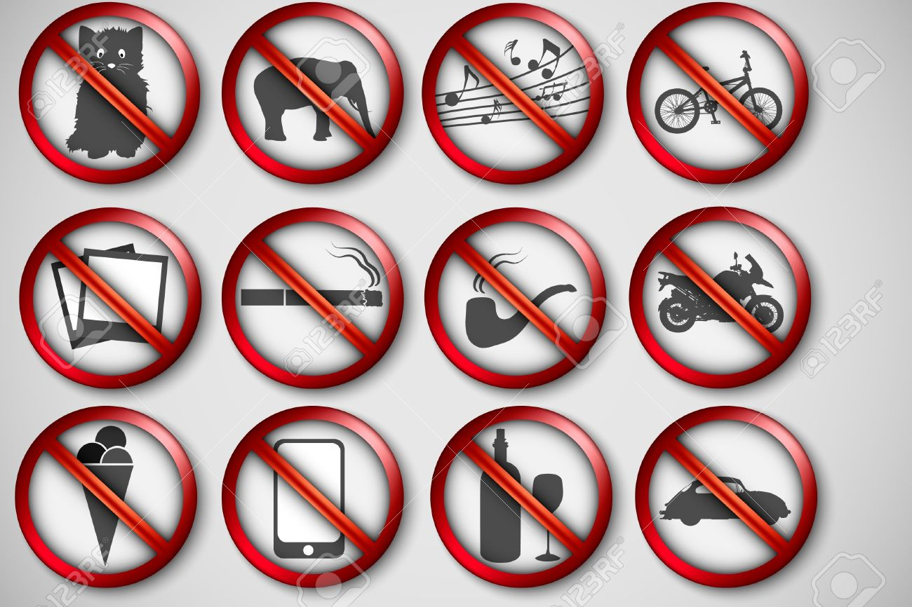 vector set of prohibition signs Stock Vector - 17535841