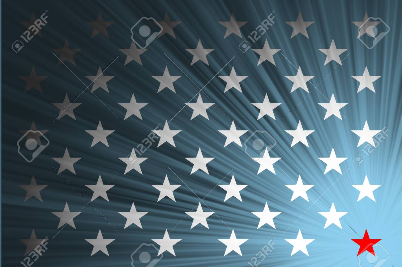 American flag with the rays Stock Vector - 18419183