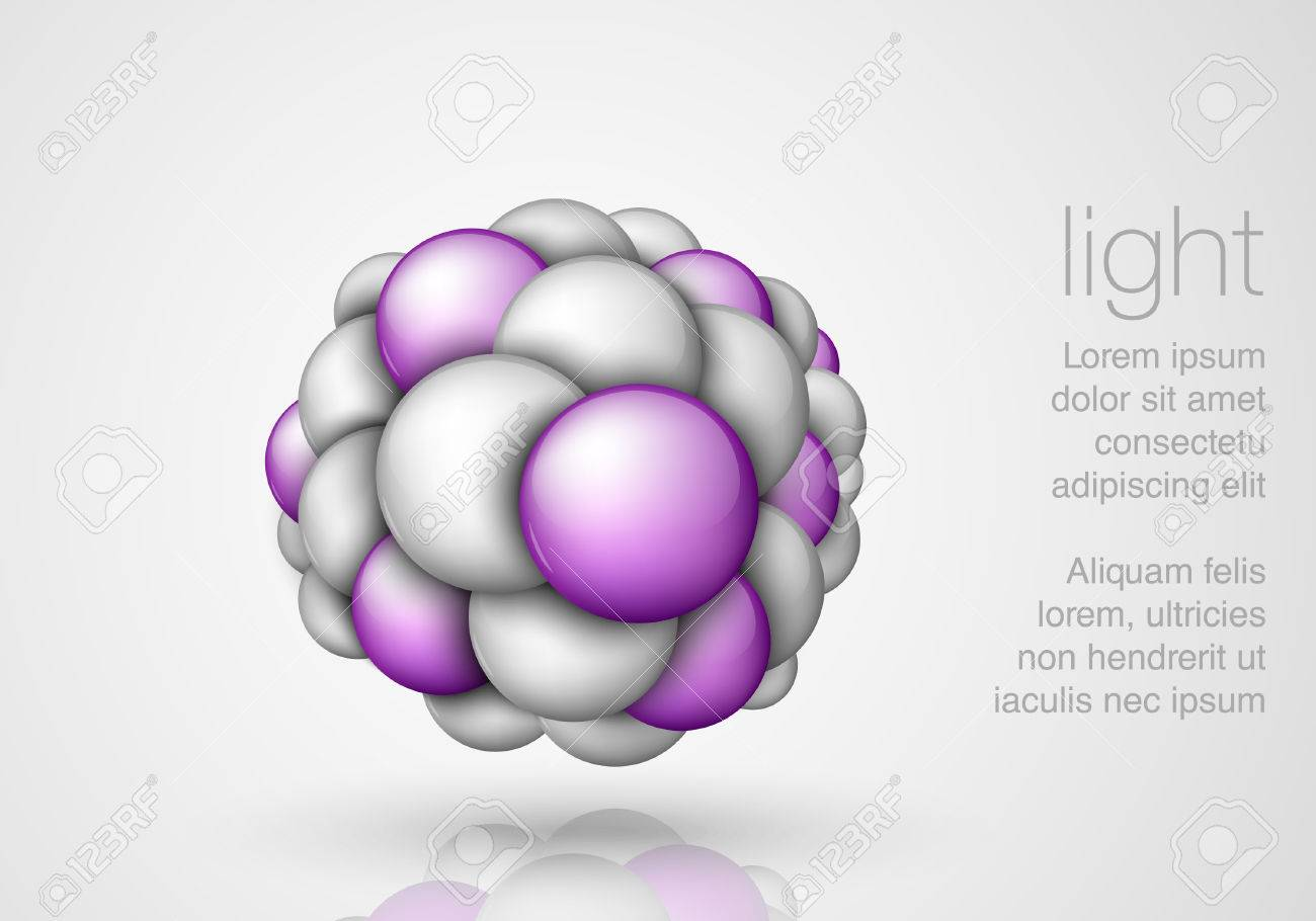 Sphere in the form of molecules and balls Stock Vector - 23647560