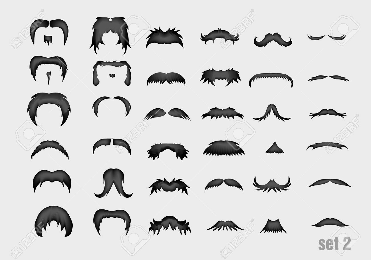 Vector , vector set of old,style mustache
