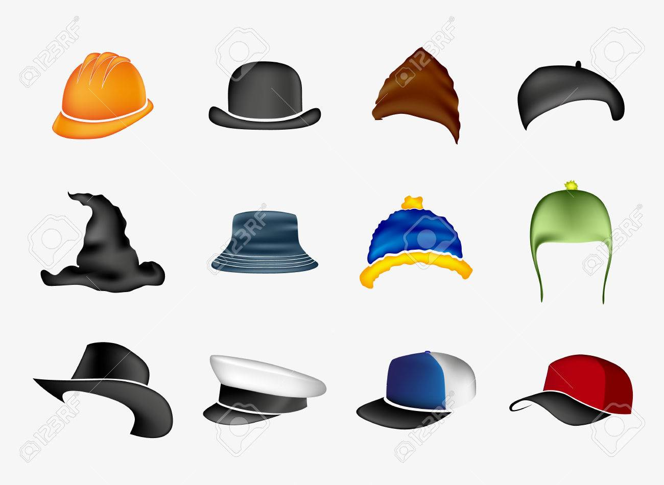 Set of hats Stock Vector - 27346430